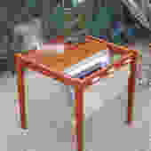 VTG Danish Modern teak end table/magazine holder