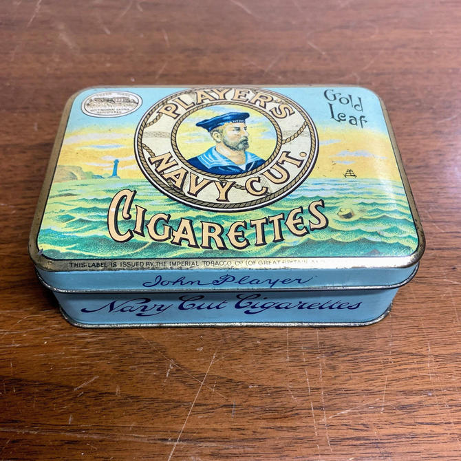 Vintage Players Navy Cut Cigarettes Tin by OverTheYearsFinds