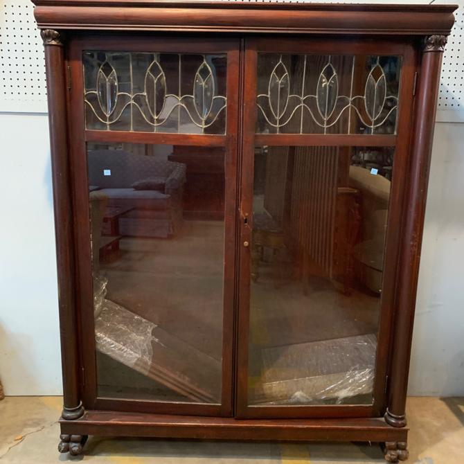 Vintage Glass Front China Cabinet