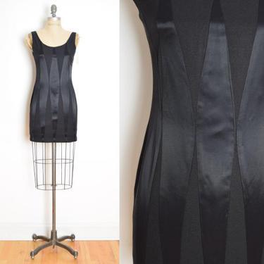 vintage 80s dress black satin crepe harlequin diamond geometric mini dress XS S clothing by huncamuncavintage