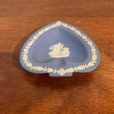 Vintage Wedgwood Jasperware Pale Blue Spade Shaped Ashtray Cupid Asleep by OverTheYearsFinds