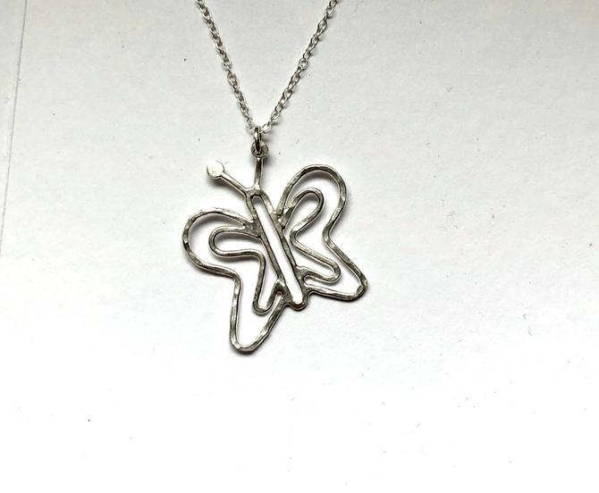 butterfly necklace handmade sterling silver butterfly pendant rachel pfeffer by RachelPfefferDesigns