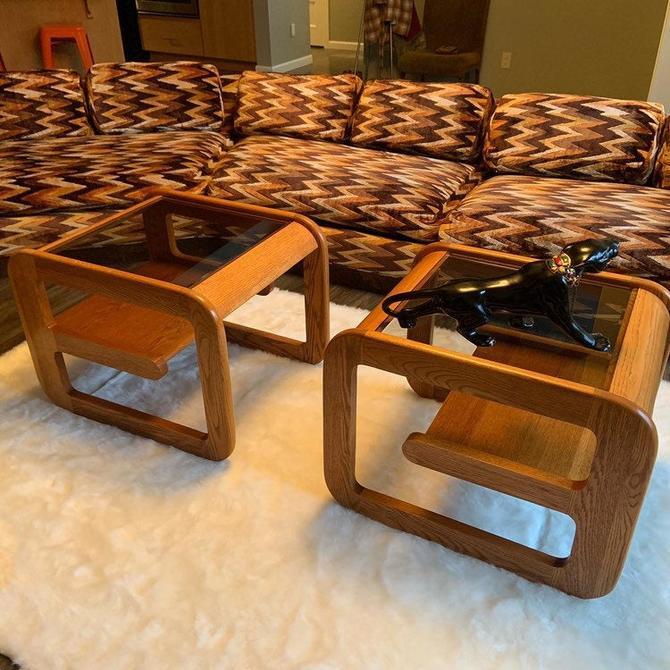Set of 2 Vintage Teak End Tables by DesertCactusVintage