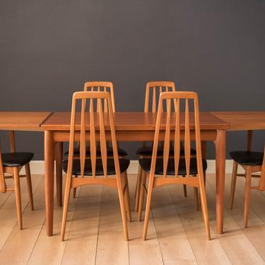 Vintage Danish Set of Six Teak Eva Dining Chairs by Niels Koefoed by MidcenturyMaddist