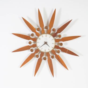 MCM Sunburst Clock by BetsuStudio