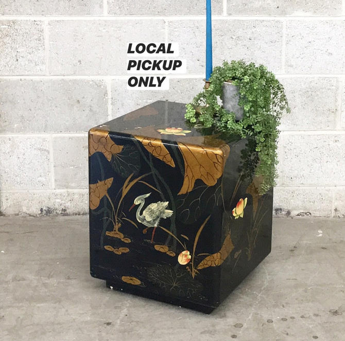 LOCAL PICKUP ONLY ———— Vintage Cube End Table by RetrospectVintage215