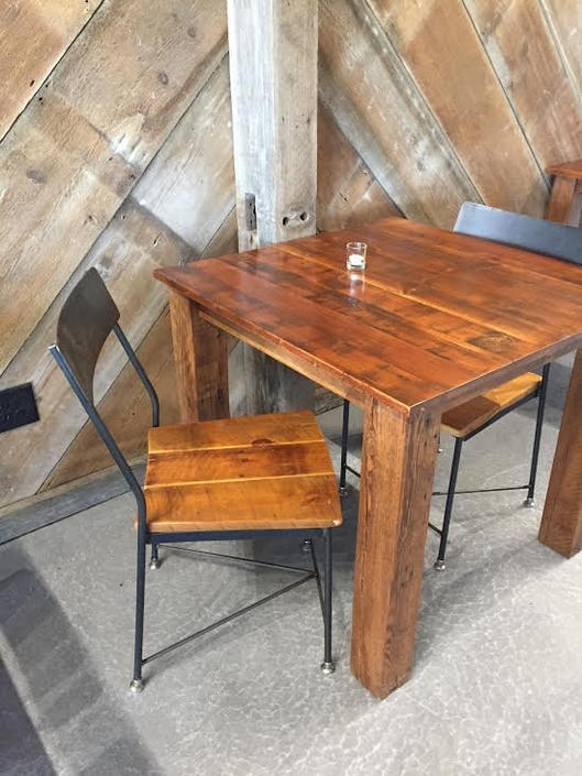 FREE SHIPPING - The Cider House Rustic Industrial Reclaimed Wood Chair and Bar Stools - Great for restaurants, bars and cafes! by BarnWoodFurniture
