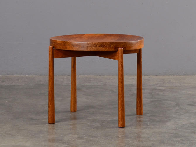 Jens Quistgaard Tray Table Mid Century Modern Teak Side Table by MadsenModern