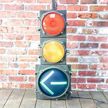 Amazing Fully Functioning Vintage Industrial Metal Street Traffic Light By Marblelite Co. by PortlandRevibe