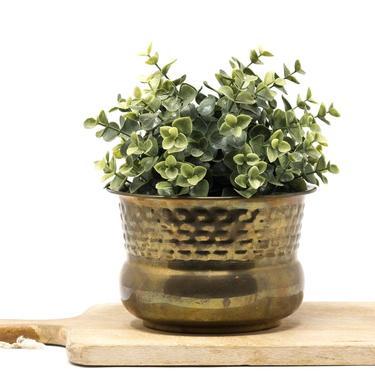 Vintage Brass Planter Pot by GreenSpruceDesigns