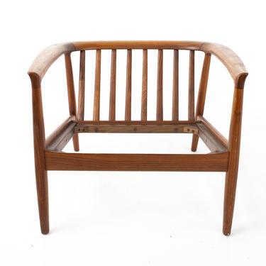 Folke Ohlsson for Dux Mid Century Danish Teak Barrel Lounge Chair - mcm by ModernHill