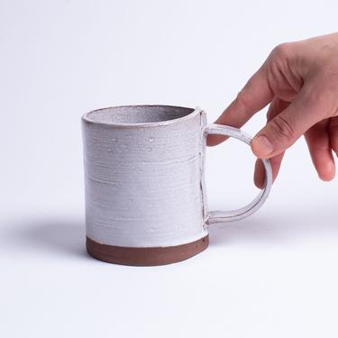 Linen Wrap Mug, coffee mug, tea mug, ceramic mug, stoneware mug, white mug by TagliaferroCeramics