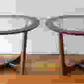 Mid Century Modern Pair of Side End Tables by Bassett