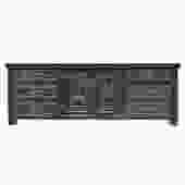 Chinese Distressed Brown Floral Motif Sideboard Console Table Cabinet cs5167S