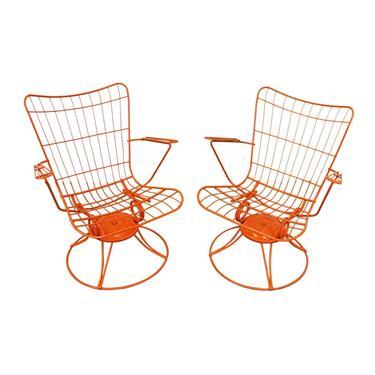 Pair of Mid-Century Modern Homecrest Bottemiller Swivel Rocker Lounge Chairs by AnnexMarketplace