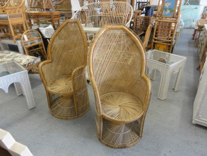 Pair of Island Style Rattan Youth Chairs