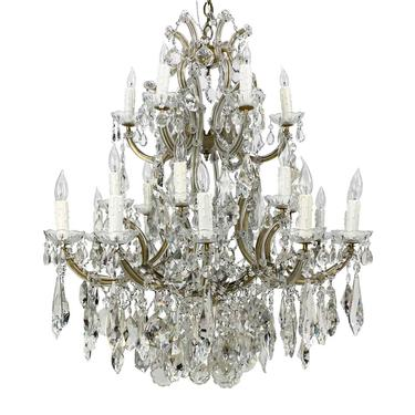 Beverly Hills 24 Light Marie Therese 3 Tier Crystal Chandelier