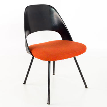 Early Saarinen for Knoll Plastic Back Mid Century Armless Executive Side Desk Chair - mcm by ModernHill