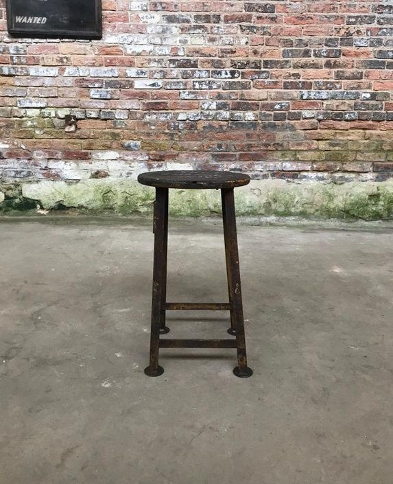 Vintage Factory Shoe Changing Machinists Stool 'The Rockford Stool' by NorthGroveAntiques