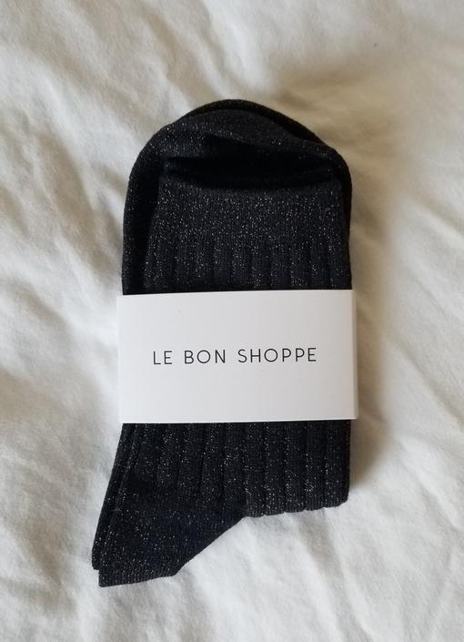 Le Bon Shoppe Her Socks - Copper Black