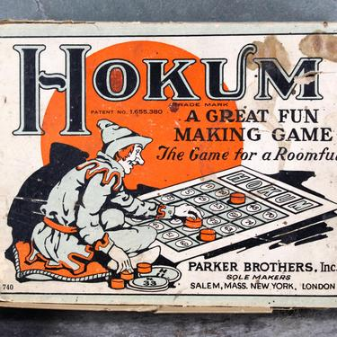 1927 Hokum Game - Antique Parker Brothers Game - Complete Game - Bingo Like Play | FREE SHIPPING by Bixley