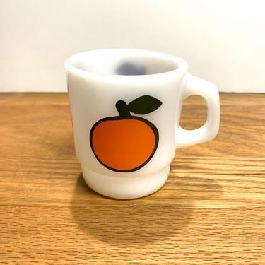 Vintage Anchor Hocking Fire King Super Fruit Mug Orange by OverTheYearsFinds