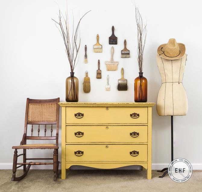 Mustard Seed Yellow Chest of Drawers