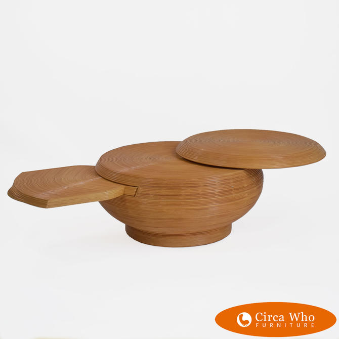 Round Pencil Reed Coffee Table