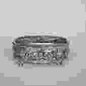 vintage silver plate footed jewelry casket by suesuegonzalas