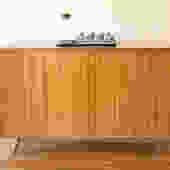 Mid Century Modern Tambour Door Credenza