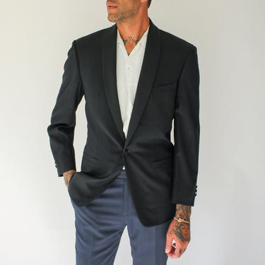 Vintage Versace Shawl Neck Single Button Tuxedo Blazer   Made in Italy   NWT   100% Wool   Vintage Versace Mens Black Shawl Neck Jacket by TheVault1969