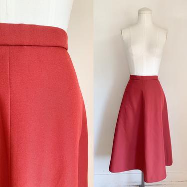 "Vintage 1970s Rust Flared Skirt / M (29"" waist) by MsTips"