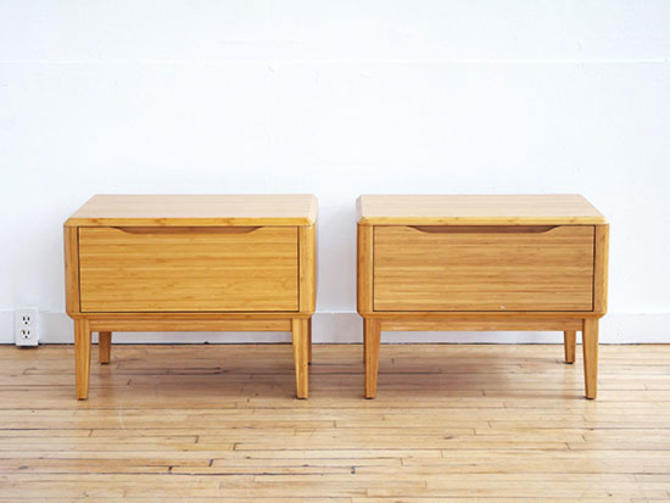 Pair Greenington Bamboo Side Tables
