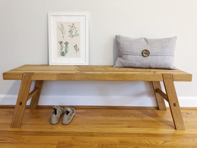 Entryway Bench - Pictured in White Oak by AvocationHardwoods