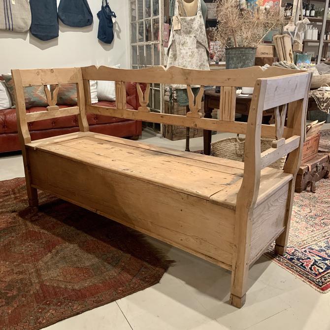 Antique Pine Bench