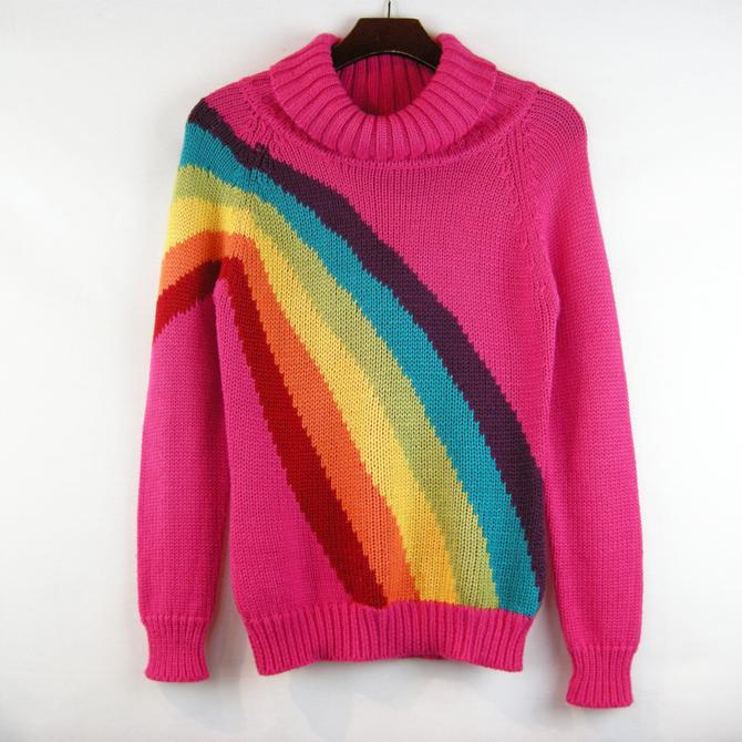 Pink Rainbow knit sweater
