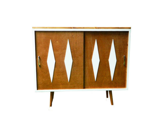 Mid Century Modern Bookcase Console Cabinet by OrWaDesigns
