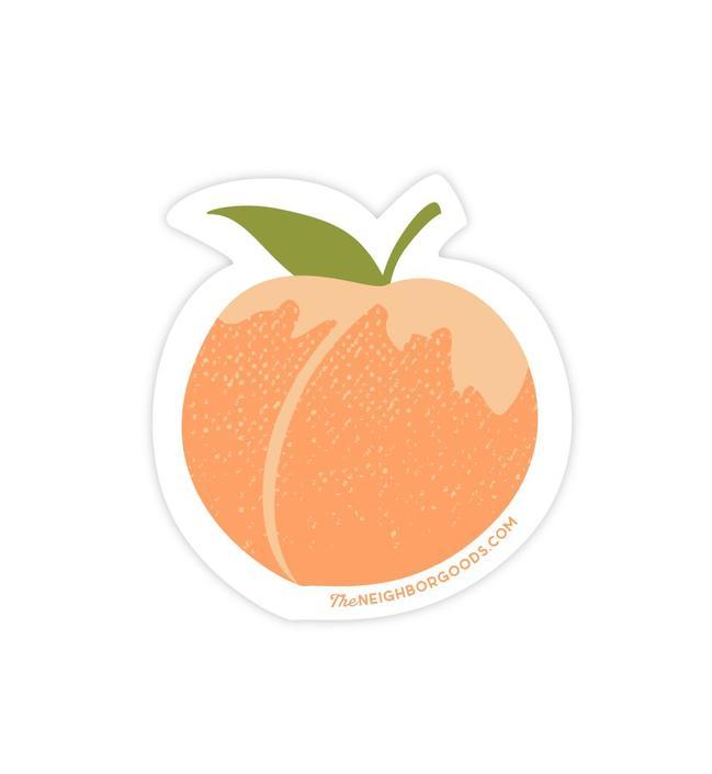 Peach Sticker