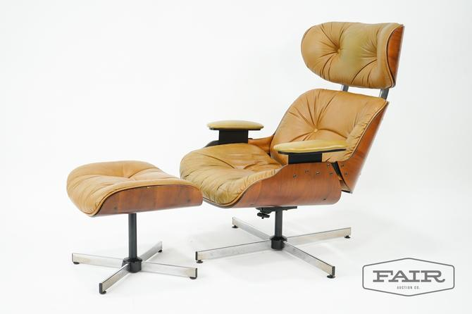 Frank Doerner for Selig Lounge Chair and Ottoman