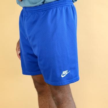 Vintage 90s Blue Mesh Nike Basketball Soccer Running Hiking Swim Shorts Trunks Large XL by MAWSUPPLY