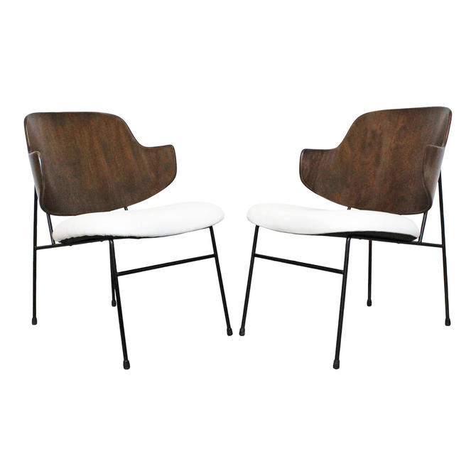 IB Kofod Larsen for Selig Penguin Chairs Pair Mid-Century Danish Modern by AnnexMarketplace