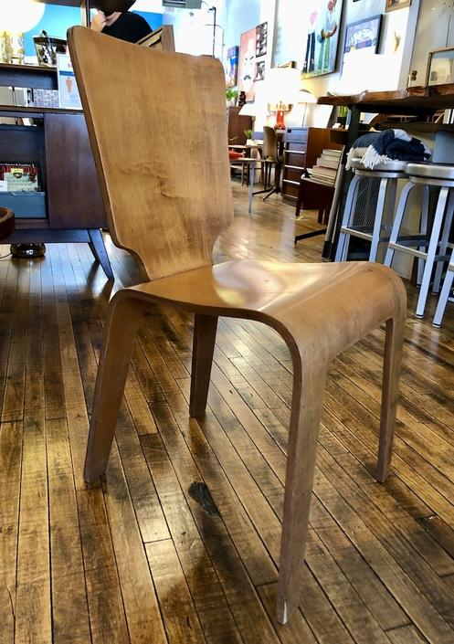 Vintage Bent Plywood Dining Chair by Thaden Jordan 1950's