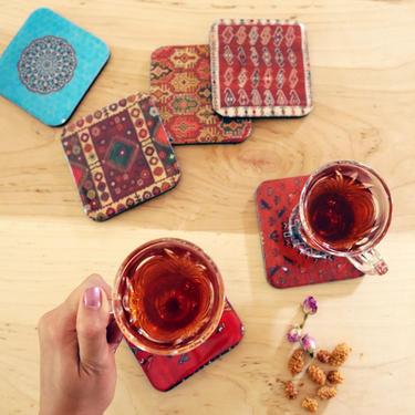 Persian Tile Design Coasters by KaashiFurniture