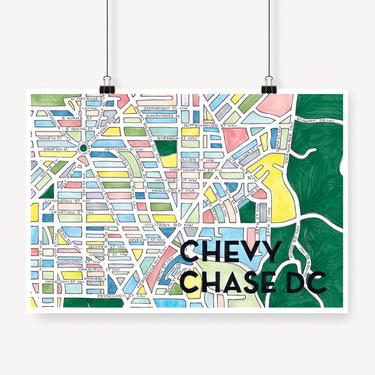 Chevy Chase DC Print