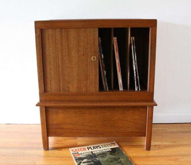 Mid Century Modern Record Cabinet