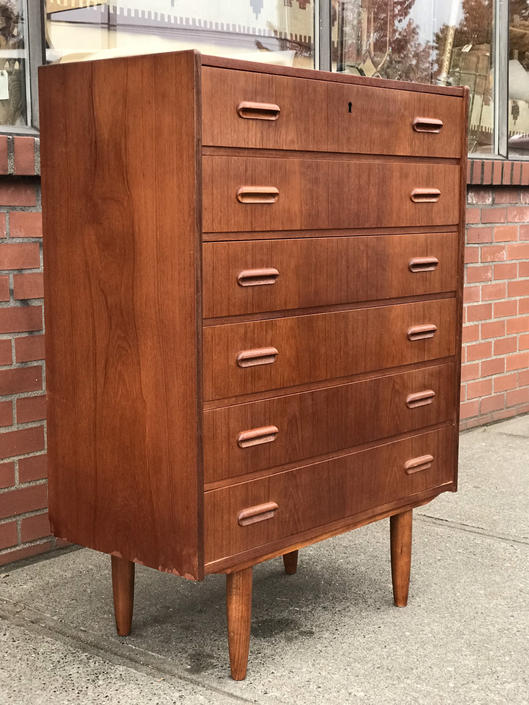 Free and Insured Shipping Within US - Vintage Danish Modern Dresser Cabinet Storage Drawers by BigWhaleConsignment