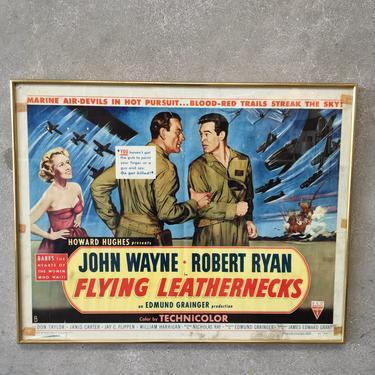 "Framed 1951 Original ""The Flying Leatherbacks"" Movie Poster / Lobby card"