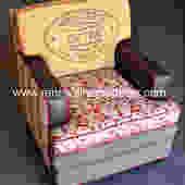 "Custom Order - Upholstered Mid-Century Club Chair "" Sheri's Damask Club"" - SOLD by ReNewalHomeDecor"