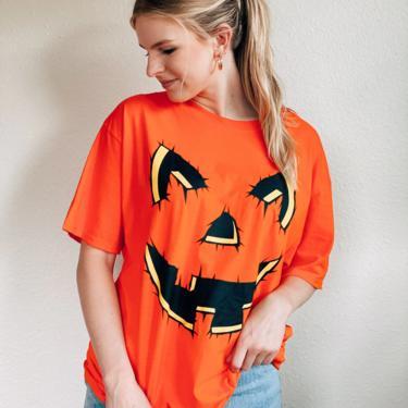 Halloween Jack-O- Lantern Pumpkin Shirt by MadroneClothing