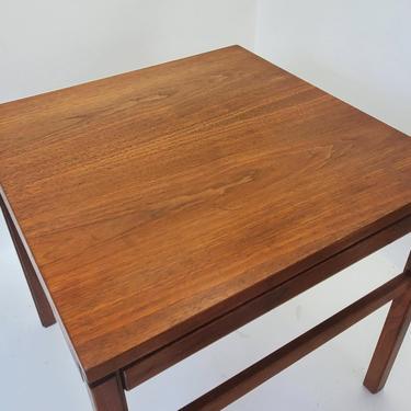 Mid Century Modern Petite Arbatove Teak Nightstand End Table Walnut Color Danish Modern Bedroom Living Lamp Entryway Occasional Side Table by MakingMidCenturyMod
